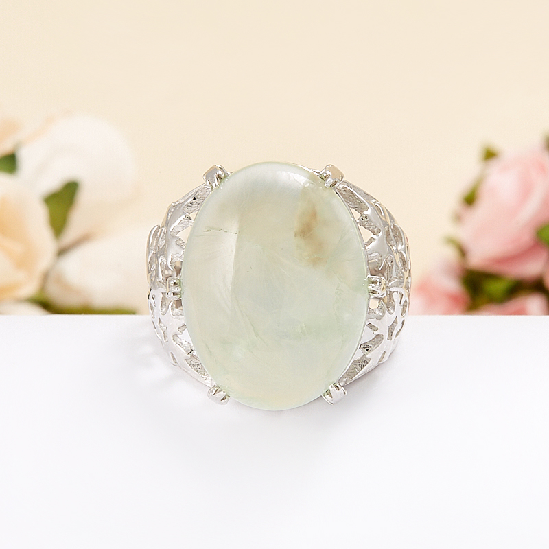 Кольцо пренит  (серебро 925 пр.)  размер 18 кольцо авантюрин зеленый серебро 925 пр размер 18