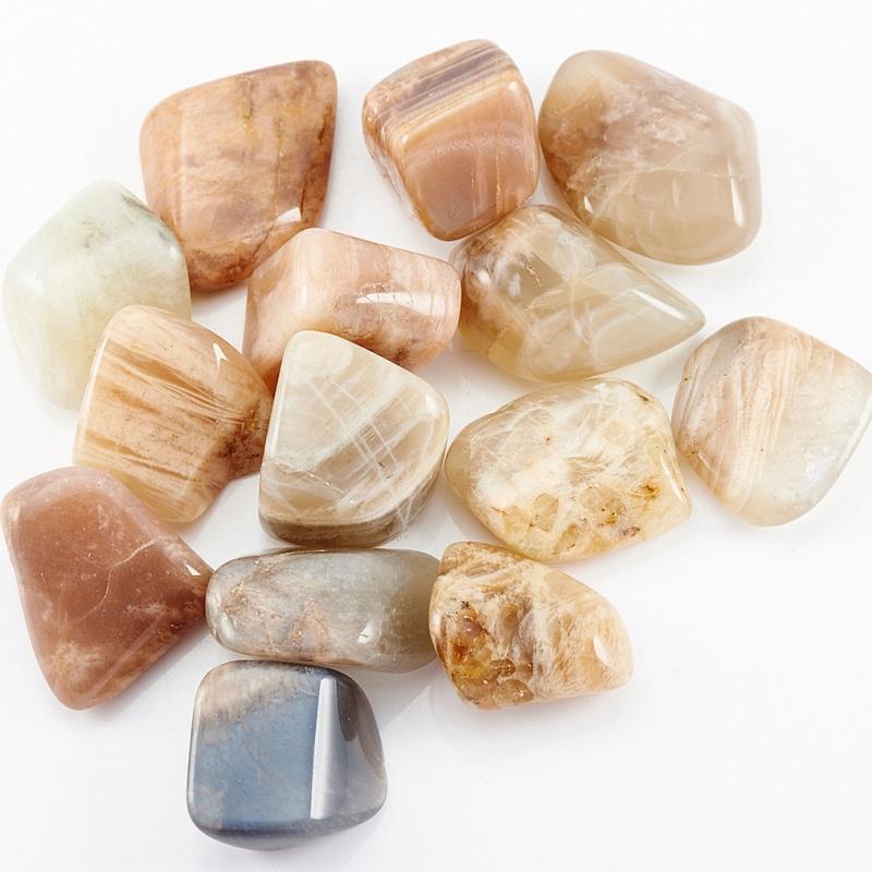 Галтовка лунный камень Индия (1,5-2 см) (1 шт)