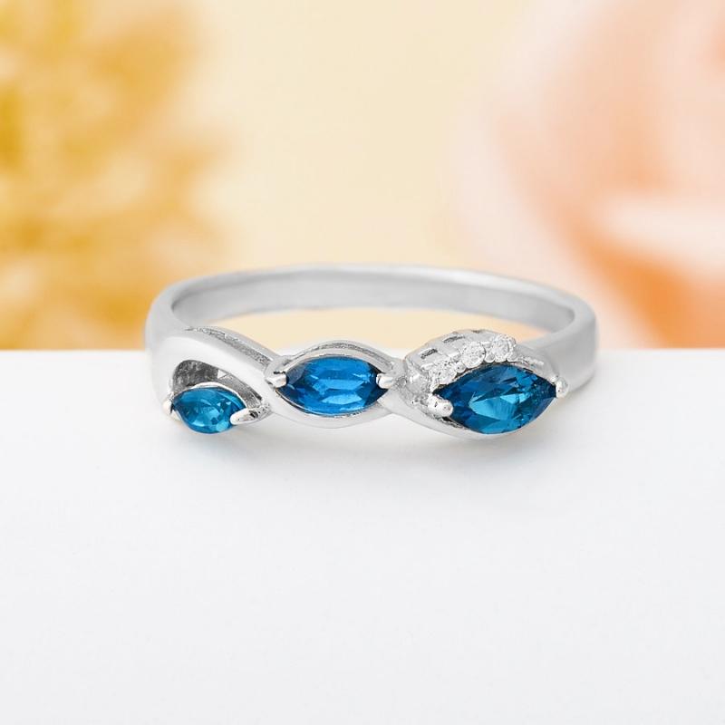 Кольцо топаз лондон огранка (серебро 925 пр.) размер 17,5 кольцо коюз топаз кольцо т141017038