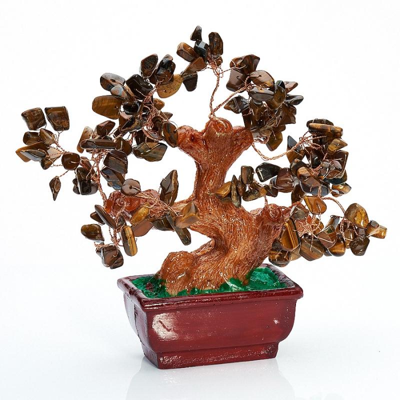 Дерево счастья тигровый глаз  15 см женские сапоги ecco 263563 51707 14 75 263563 51707