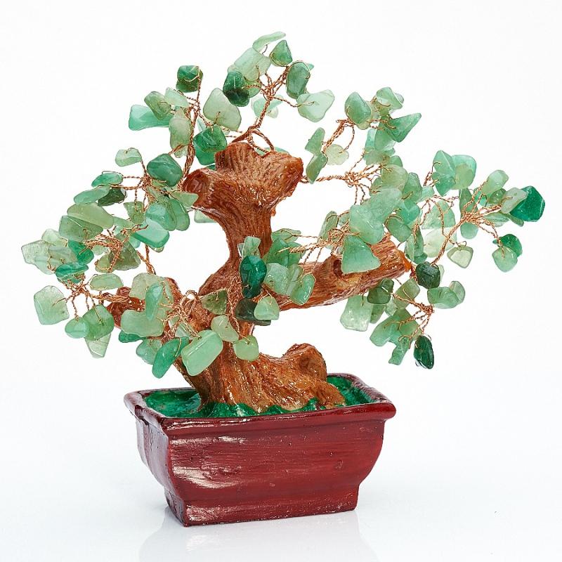 Дерево счастья авантюрин зеленый  15 см