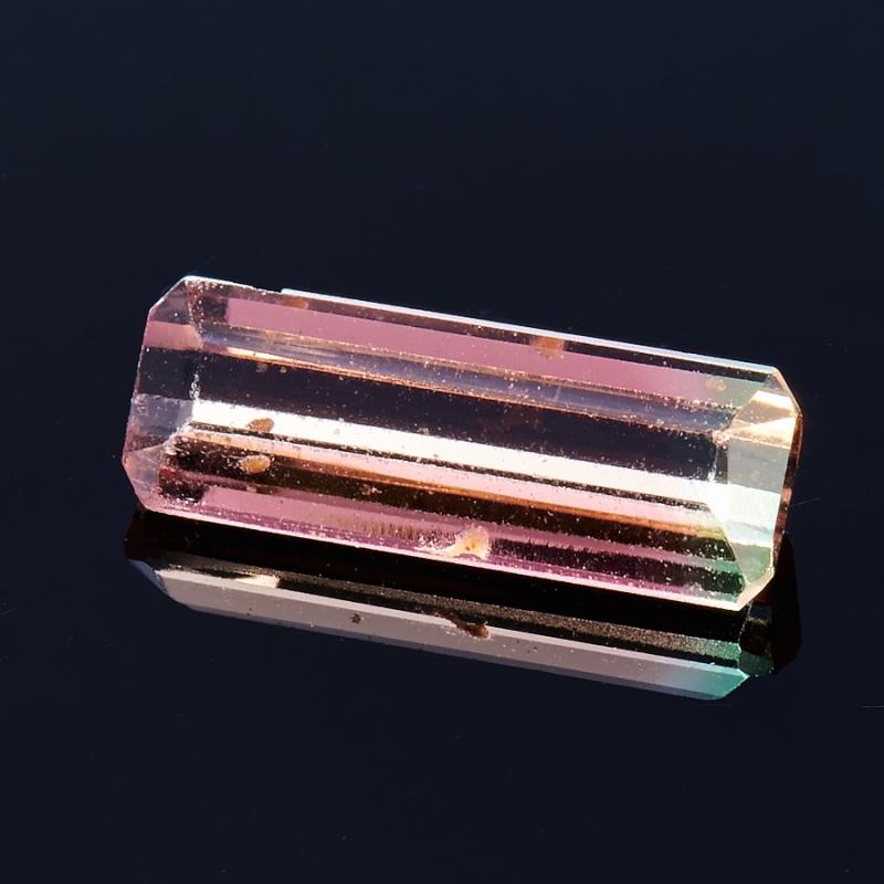 Огранка турмалин полихромный  3*9 мм