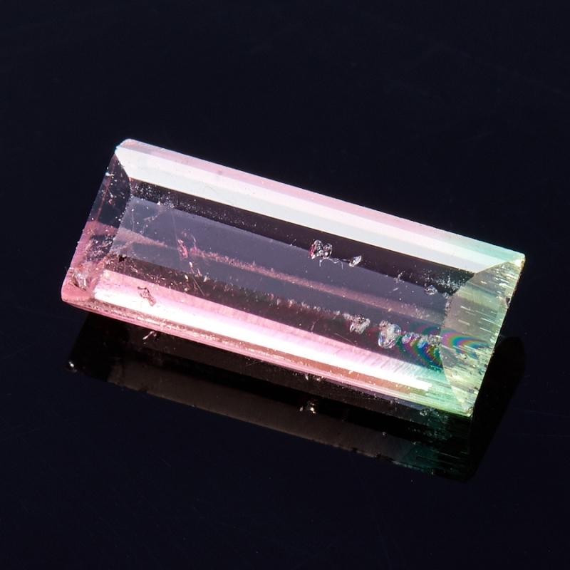 Огранка турмалин полихромный  3.4*8 мм