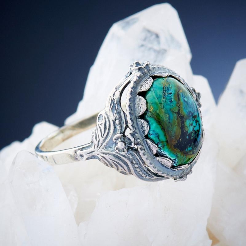 [del] Кольцо бирюза Тибет (серебро 925 пр.)  размер 16