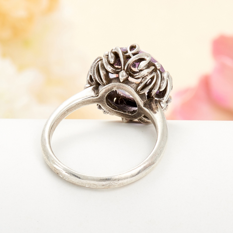 [del] Кольцо аметист Бразилия огранка (серебро 925 пр.) размер 16,5