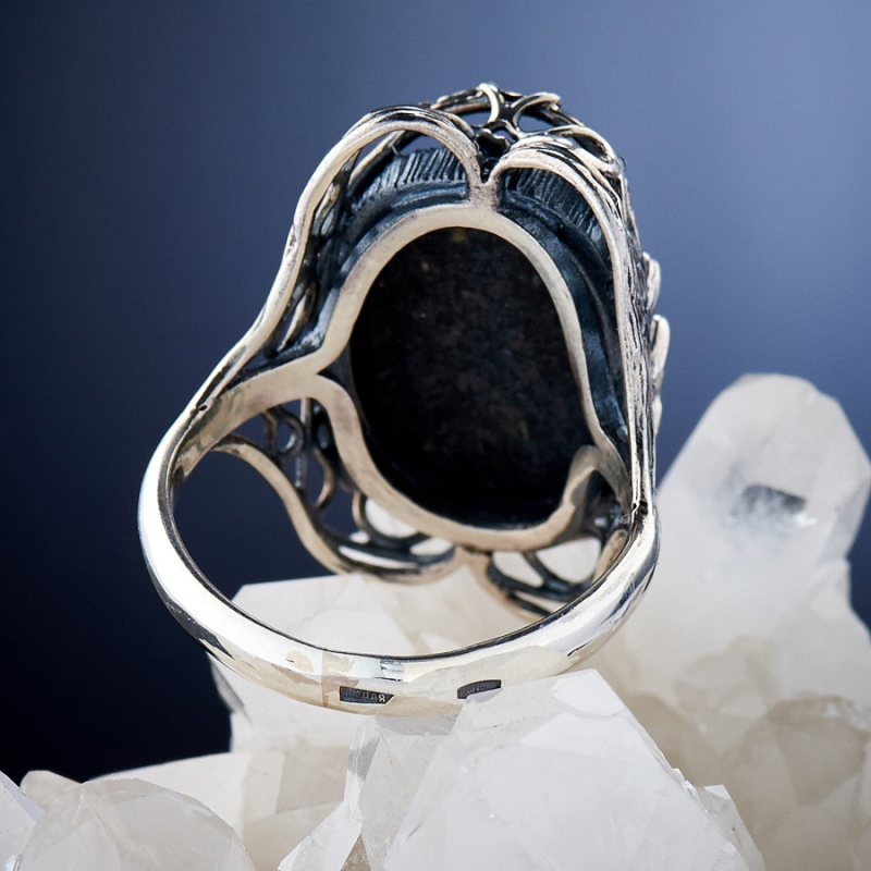 [del] Кольцо бирюза Тибет (Китай) (серебро 925 пр.)  размер 19
