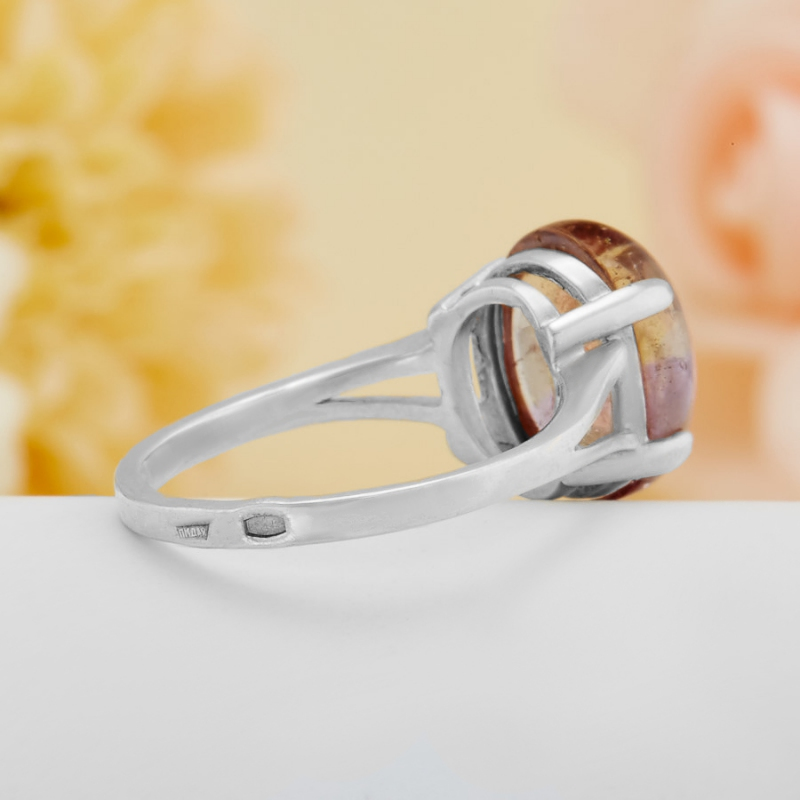[del] Кольцо аметрин Бразилия (серебро 925 пр.)  размер 19