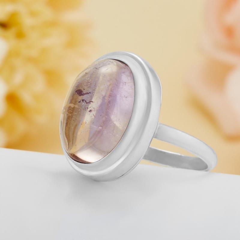 [del] Кольцо аметрин Бразилия (серебро 925 пр.)  размер 18,5