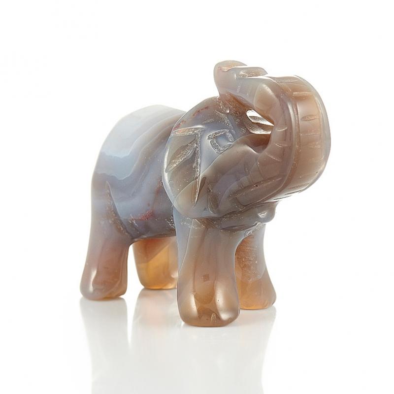 Слон агат серый 5 см медведь агат серый 5 см