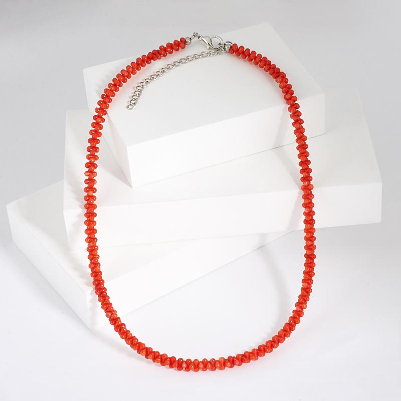 Бусы коралл оранжевый 47 см (+7 см) (биж. сплав) бусы teosa цвет фиолетовый оранжевый tur 32 50
