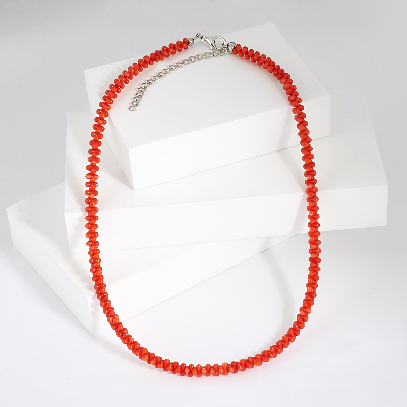 Бусы коралл оранжевый 47-53 см бусы xxl пластик 20ммх270см оранжевый