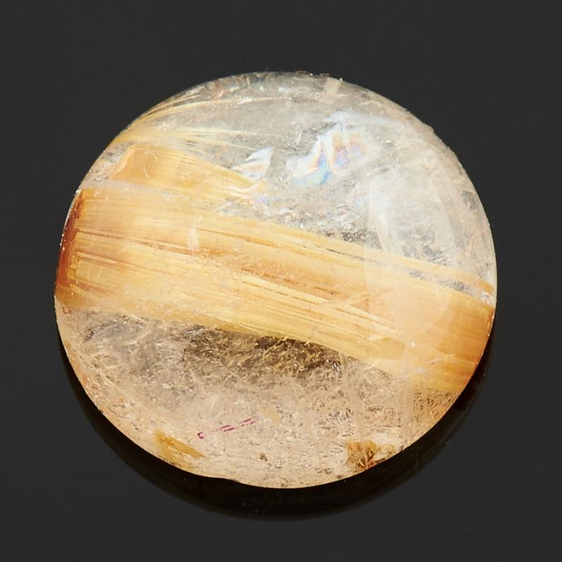 Кабошон рутиловый кварц  10 мм