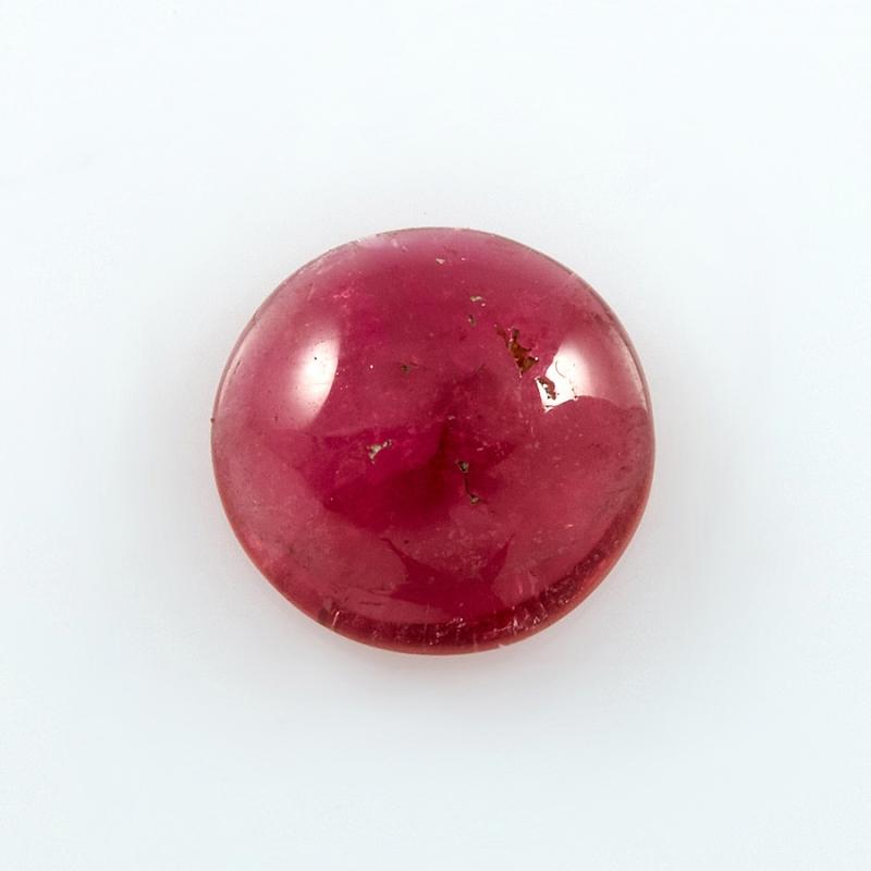Кабошон турмалин розовый (рубеллит)  9 мм