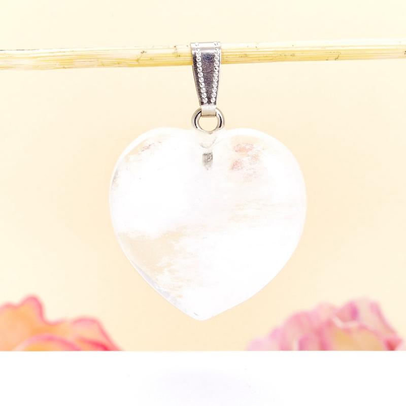 Кулон сердечко горный хрусталь 4 см кулон горный хрусталь кристалл 4 5 см