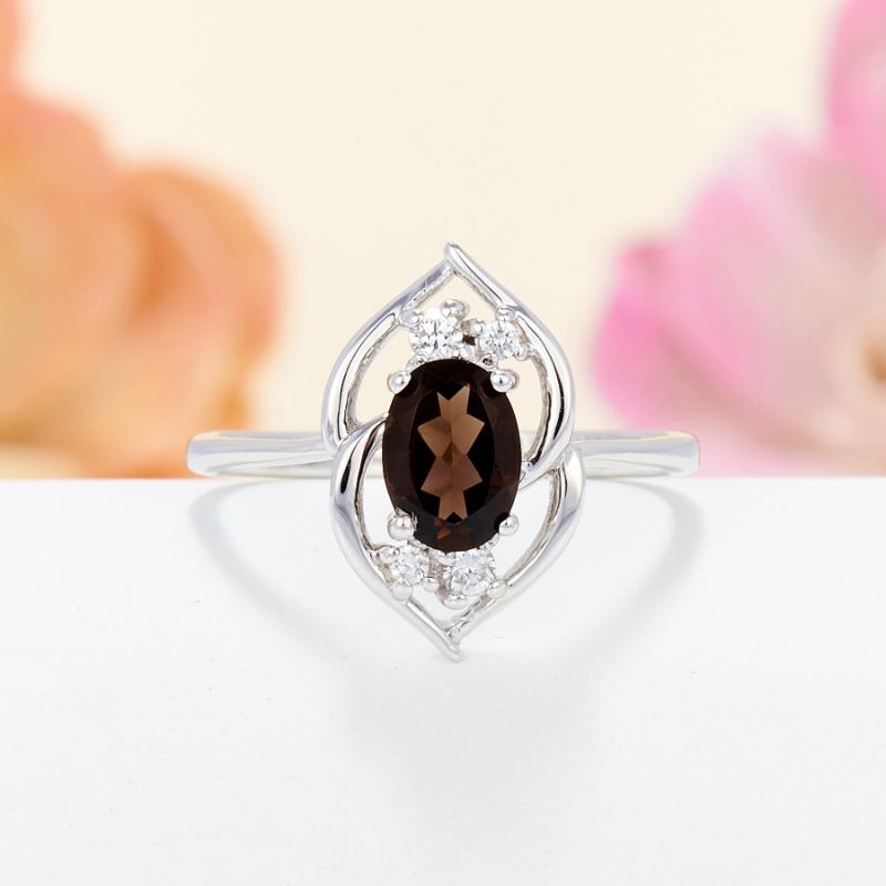 Кольцо раухтопаз огранка (серебро 925 пр.) размер 17 кольцо раухтопаз огранка золото 375 пр размер 17