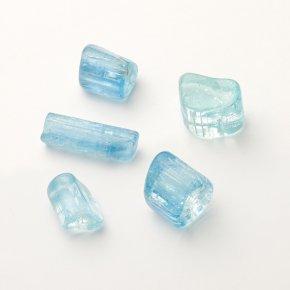 Аквамарин галтованный кристалл  Шерловая Гора 0,5 см 1 шт.