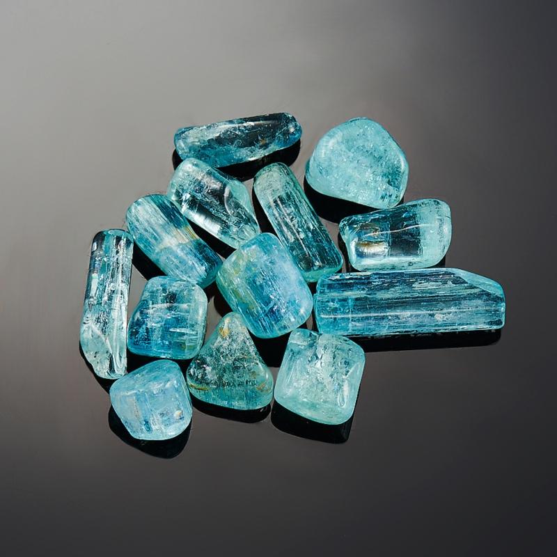 Аквамарин галтованный кристалл  Шерловая Гора (0,5-1,5) см 1 шт