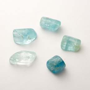Аквамарин галтованный кристалл  Шерловая Гора (1-1,5 см) 1 шт