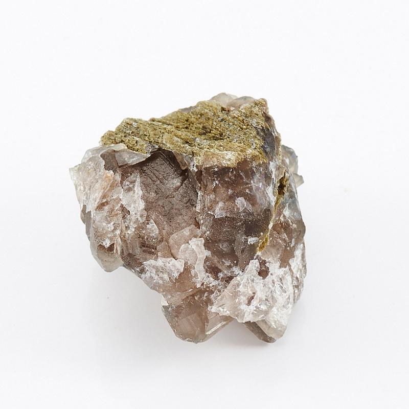 Кристалл (сросток) раухтопаз с эпидотом и тремолит-асбестом  S 38х42х54 мм