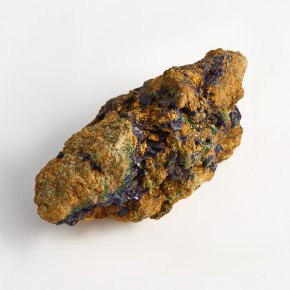 Порода азурит с малахитом Россия (Башкирия) XXS 46х23х22 мм