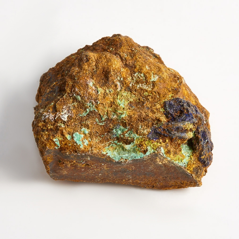 Образец азурит с малахитом  (Башкирия) XS 39х33х17 мм