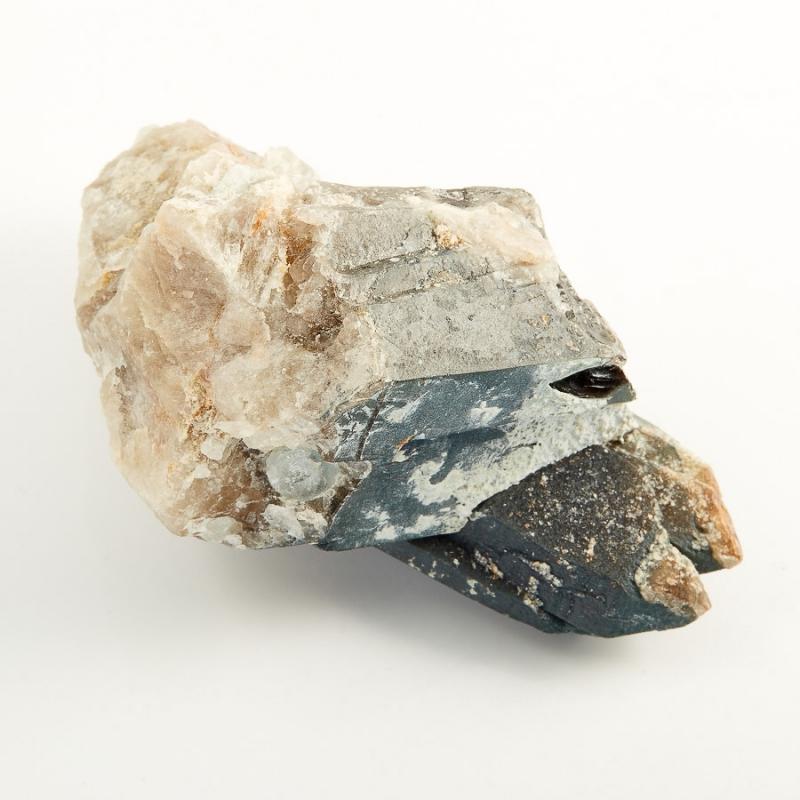 Кристалл (сросток) морион с топазом  M 45х48х83 мм