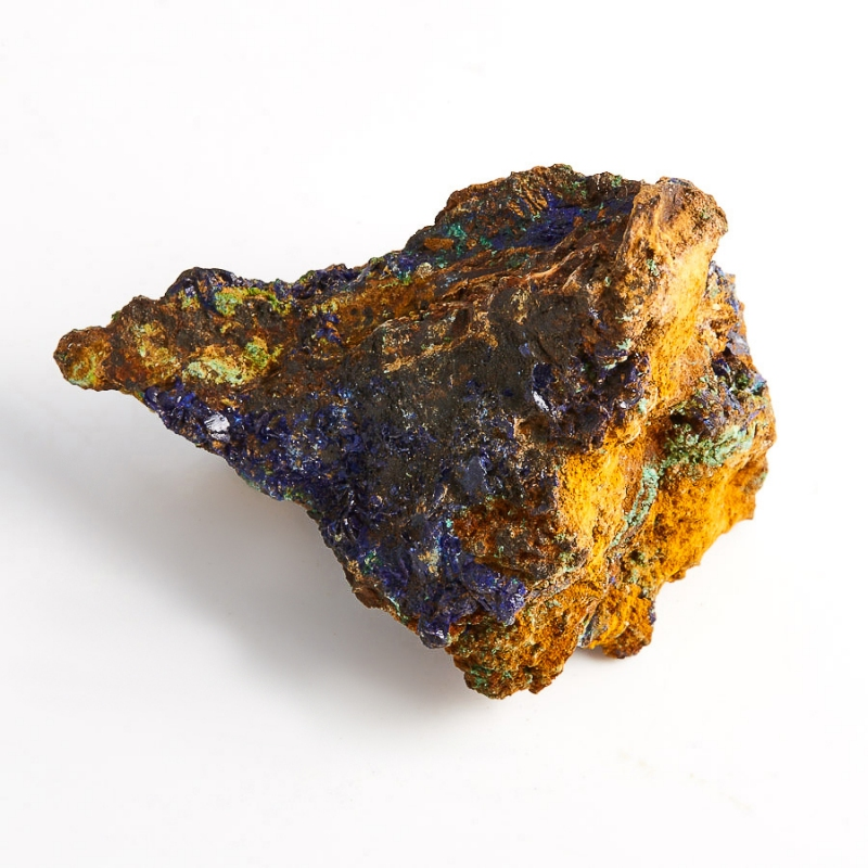 Образец азурит с малахитом  (Башкирия) S 54х40х39 мм