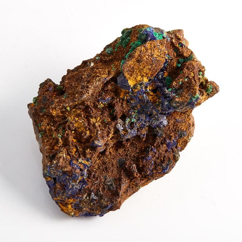 Образец азурит с малахитом  (Башкирия) S 57х39х38 мм