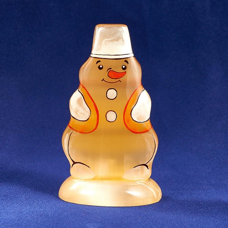 Статуэтка Снеговик селенит  7,5 см статуэтка снегурочка селенит 7 см