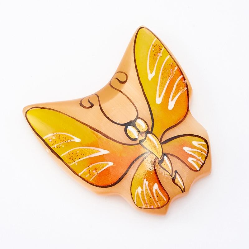 Магнит бабочка селенит  4 см
