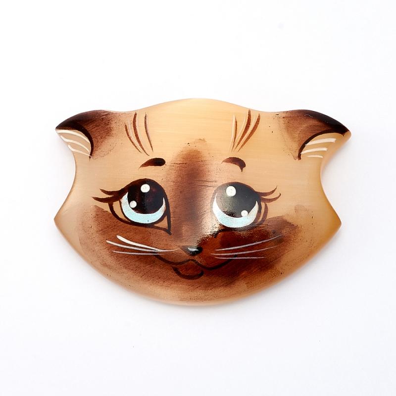 Магнит Сиамский кот селенит  5 см