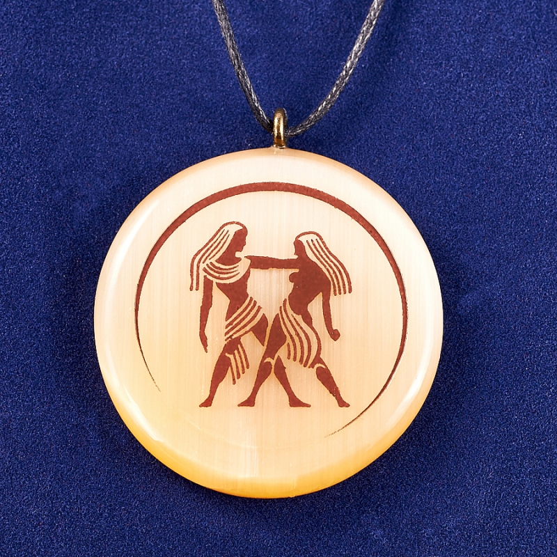 Кулон селенит Близнецы  4 см кулон знак зодиака мастер золотой кулон близнецы с куб циркониями nd10649b