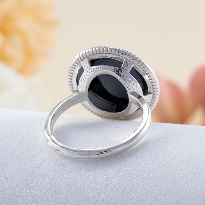 Кольцо гематит Бразилия (серебро 925 пр.)  размер 21,5