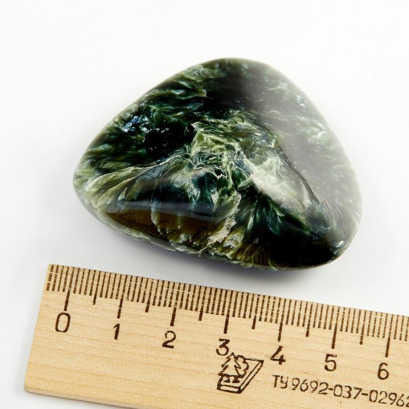 Галтовка Клинохлор (серафинит) Pоссия S