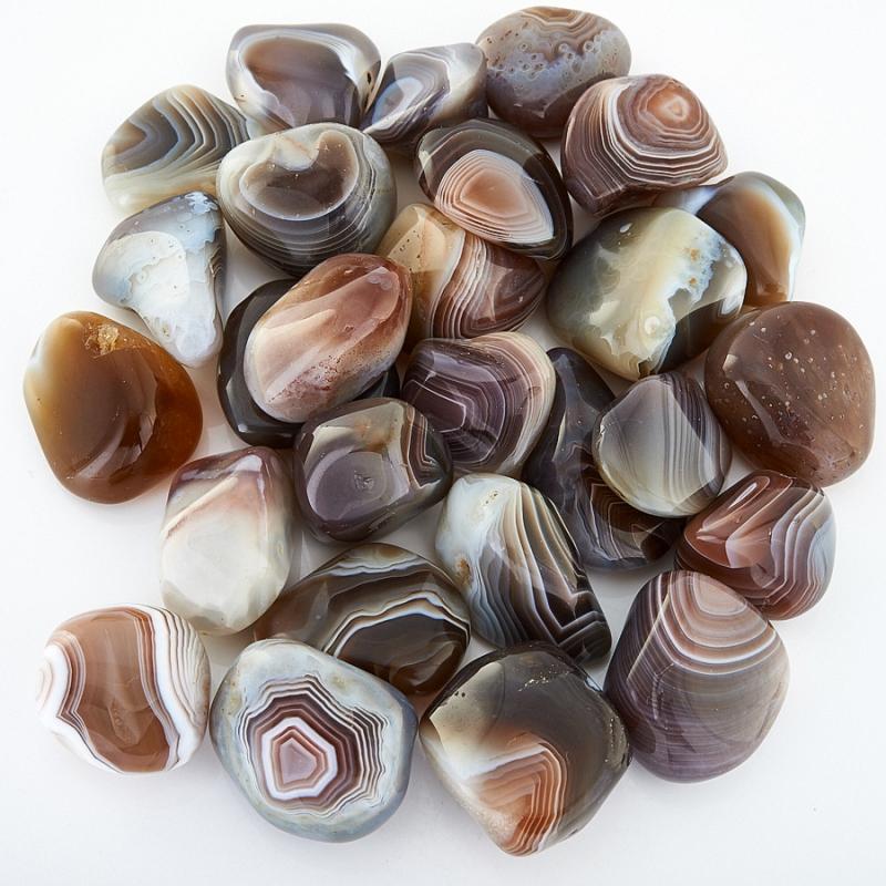 Галтовка агат серый Ботсвана (1,5-2 см) (1 шт)