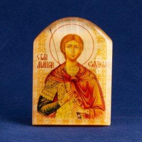 Икона с подставкой Димитрий Солунский селенит Россия 59х42
