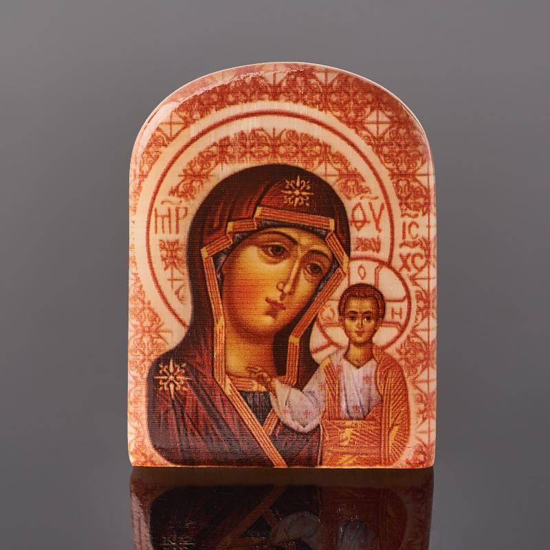 Фото - Изображение селенит Богоматерь Казанская 6 см изображение янтарь богоматерь владимирская 13х16 см