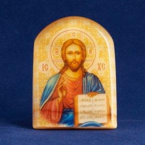 Икона с подставкой Иисус Христос (фон) селенит Россия 60х43 мм