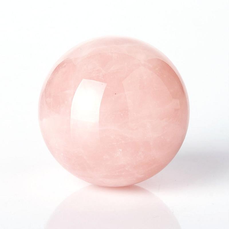 Шар розовый кварц 3,5 см шар ветка 80мм стекло розовый