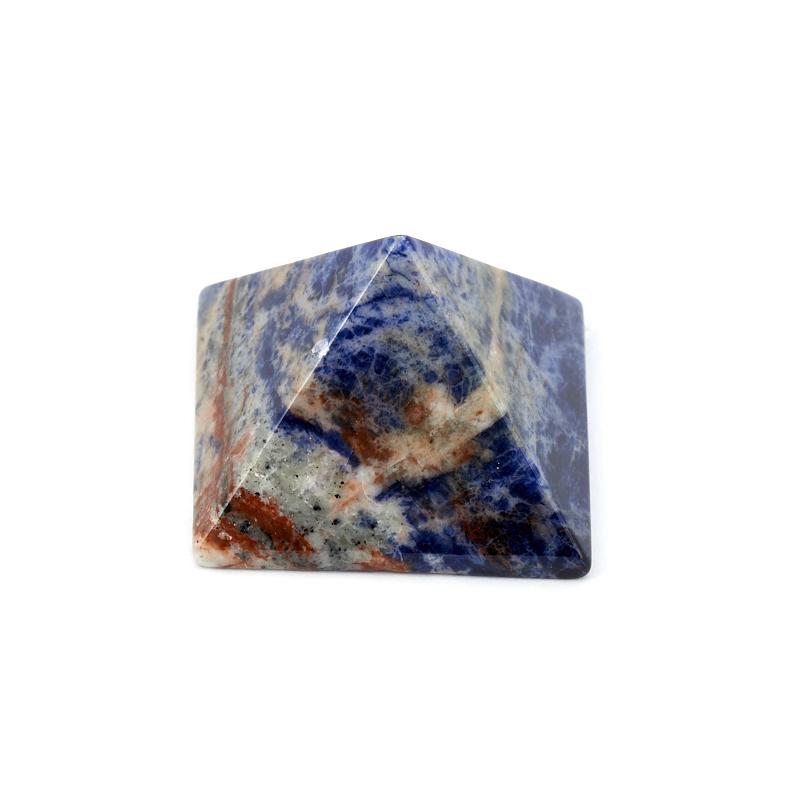 Пирамида содалит 4 см содалит брелок с натуральным камнем 5х10см