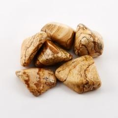 Галтовка яшма рисунчатая (песочная) Намибия (1,5-2 см) (1 шт)