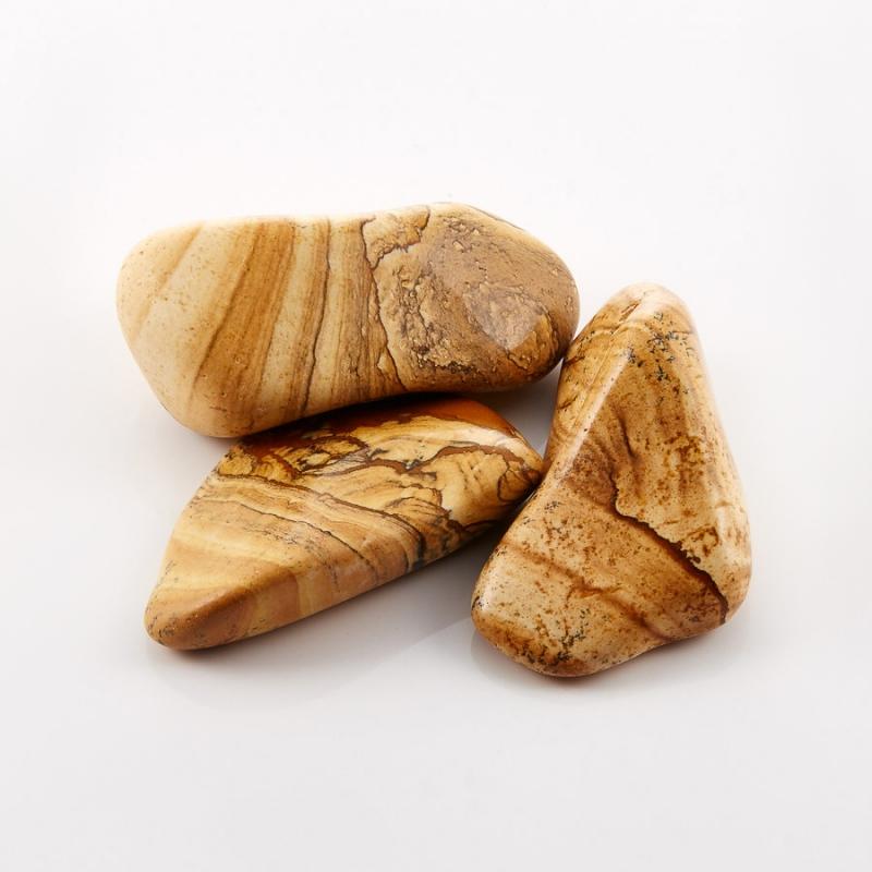 Галтовка яшма рисунчатая (песочная) Намибия S (4-7 см) (1 шт)