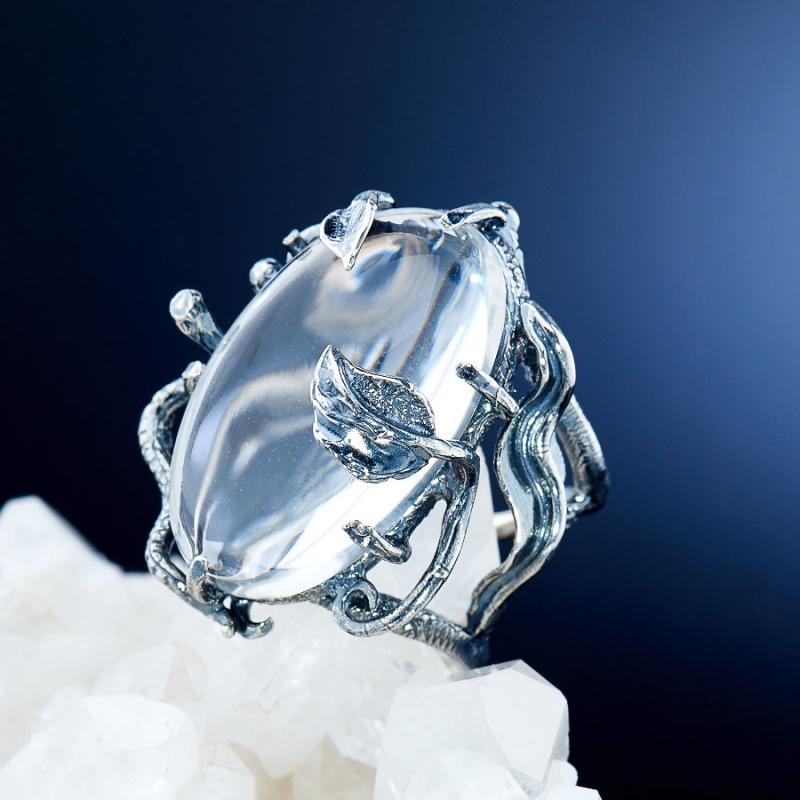 [del] Кольцо горный хрусталь Бразилия (серебро 925 пр.)  размер 18,5