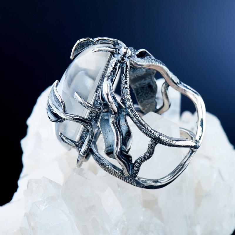 [del] Кольцо горный хрусталь Бразилия (серебро 925 пр.)  размер 19,5