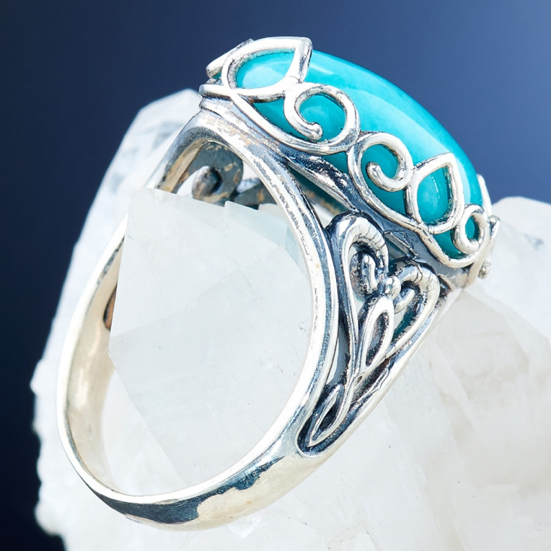 [del] Кольцо амазонит Перу (серебро 925 пр.)  размер 18