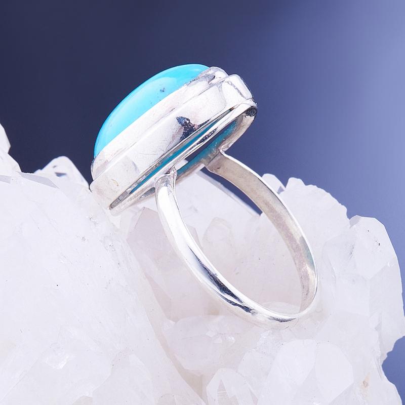 [del] Кольцо бирюза Тибет (серебро 925 пр.)  размер 16,5