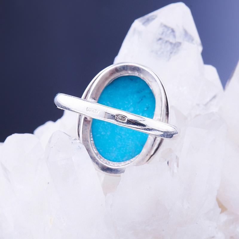 [del] Кольцо бирюза Тибет (серебро 925 пр.)  размер 21,5