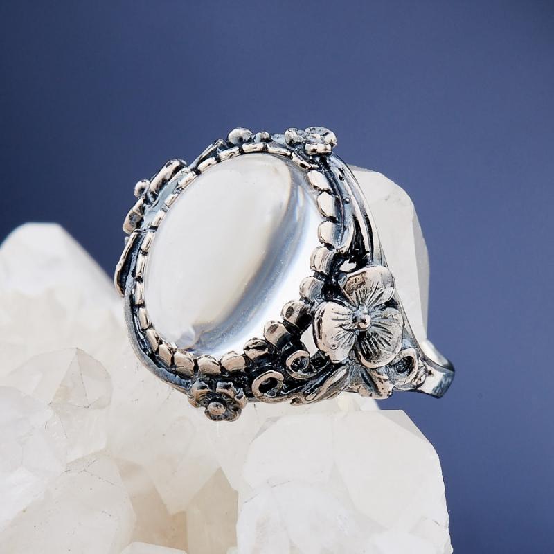 [del] Кольцо горный хрусталь Бразилия (серебро 925 пр.)  размер 20,5