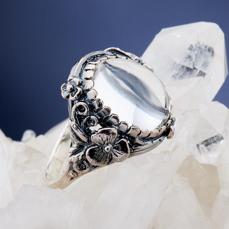 [del] Кольцо горный хрусталь Бразилия (серебро 925 пр.)  размер 21,5