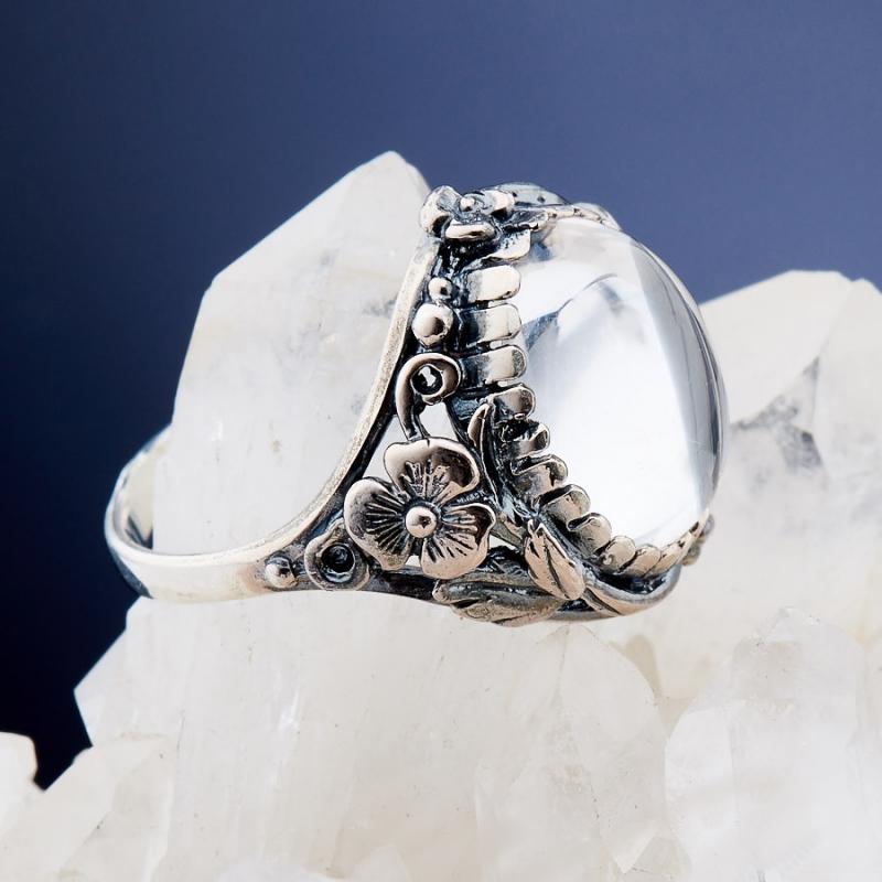 [del] Кольцо горный хрусталь Бразилия (серебро 925 пр.)  размер 22